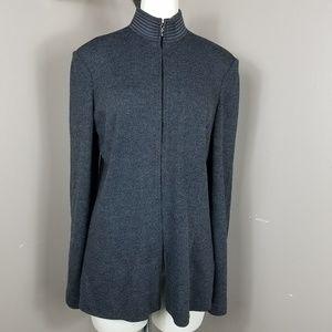 St John Collection Santana Knit Ribbed Jacket